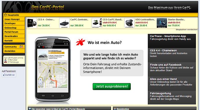 Website 'CarPC-Portal'